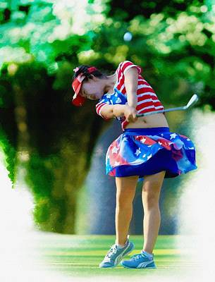 Ernie Els Wall Art - Digital Art -  Lucy Li - The 69th U S  Women's Open  by Don Kuing