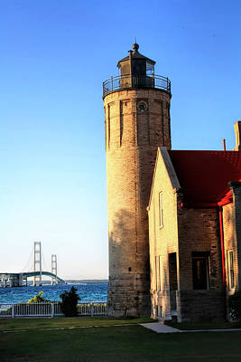Mackinac Old Lighthouse. Art Print by Pat Cook