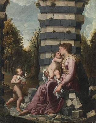 North Painting -  Madonna And Child by Celestial Images