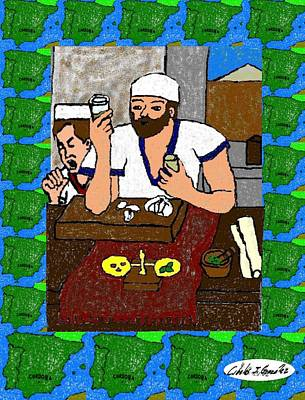 Herb Mixed Media -  Maimonides Sephardic Sage And Doctor by Cibeles Gonzalez