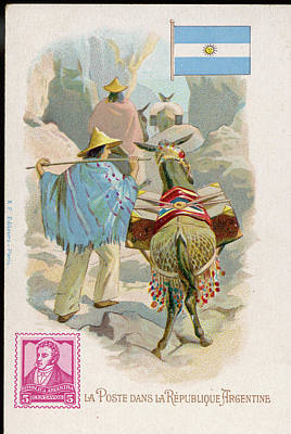 Making Deliveries In The  Mountain Art Print by Mary Evans Picture Library