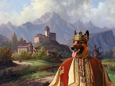 Belgian Malinois Painting -  Malinois - Belgian Shepherd Dog Art Canvas Print by Sandra Sij