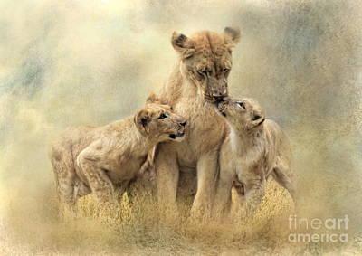Mamma Art Print by Trudi Simmonds