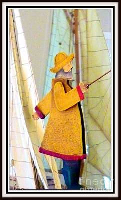Photograph -  Man In Yellow Slicker  by Susan Garren