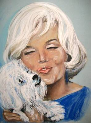Marilyn And Maf Art Print by Martha Suhocke