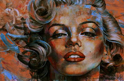 Actors Wall Art - Painting -  Marilyn Monroe by Arthur Braginsky