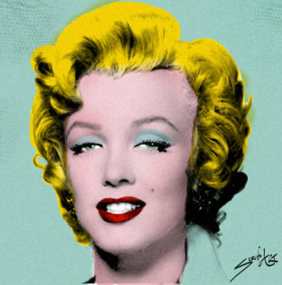 Painting -  Marilyn Monroe by S Robinson