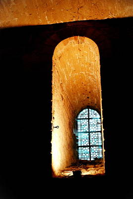 Photograph -  Meditation - Deep Window Mont St Michel by Jacqueline M Lewis