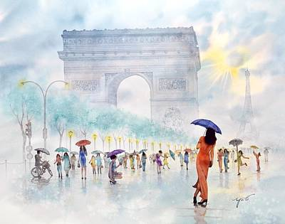 Memory Of Paris France Original by John YATO
