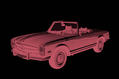 Photograph -  Mercedes Benz 280 Sl Convertible Modern Art by Keith Webber Jr