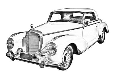 Photograph -  Mercedes Benz 300 Luxury Car Drawing by Keith Webber Jr