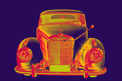 Photograph -  Mercedes Benz 300 Luxury Car Pop Art by Keith Webber Jr