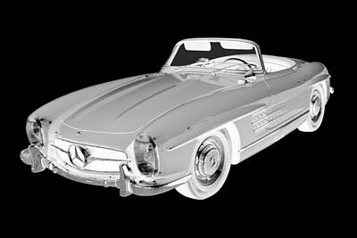 Photograph -  Mercedes Benz 300 Sl Convertible Car Art by Keith Webber Jr