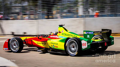 Photograph -  Miami Eprix Street Race by Rene Triay Photography