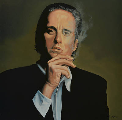 Smoking Painting -  Michael Douglas by Paul Meijering