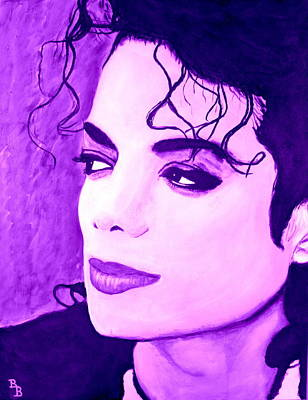 Digital Art -  Michael Jackson In Purple by Bob Baker