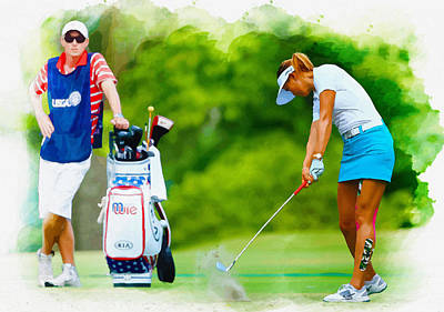 Ernie Els Wall Art - Digital Art -  Michelle Wie - The 69th U.s. Women's Open  by Don Kuing