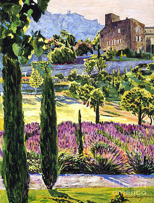 Pathway Painting -  Midsummer's Eve In Provence by David Lloyd Glover