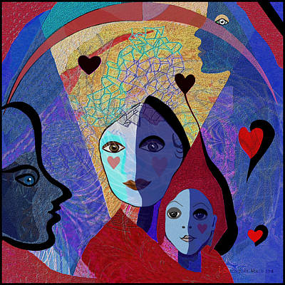 834 -  Mighty Mother  Art Print by Irmgard Schoendorf Welch