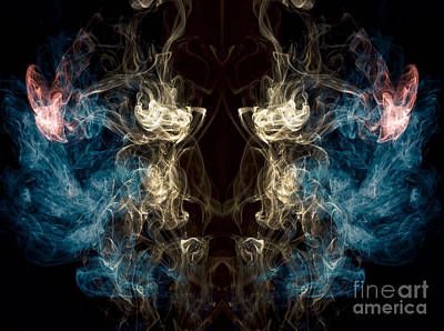 Photograph -  Minotaur Smoke Abstract by Edward Fielding