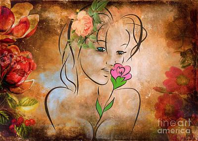 Miss Autumn Original by Andrzej Szczerski