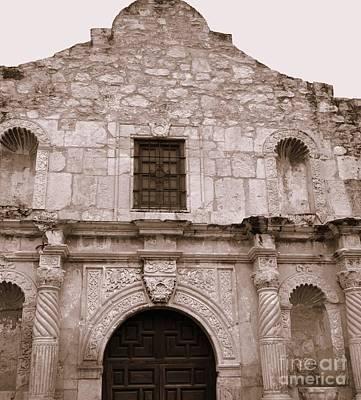 Photograph -  Mission San Antonio De Valero San Antonio Texas 2 by Jennifer E Doll
