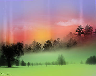 Mist Coloring Day Art Print by Mark Ashkenazi
