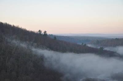 Mist Creeping Up The Mountain Art Print