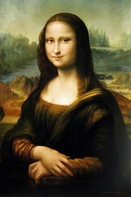 Painting -  Mona Lisa by Yoo Choong Yeul