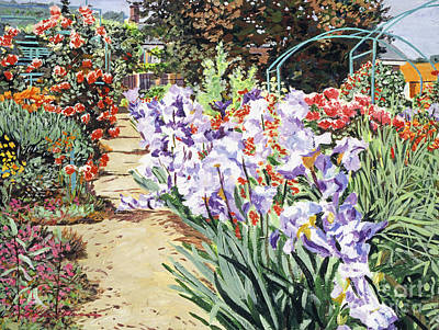 Painting -  Monet's Garden Walk by David Lloyd Glover