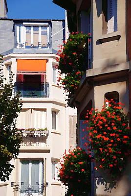 Montmartre Apartment Art Print by Jacqueline M Lewis