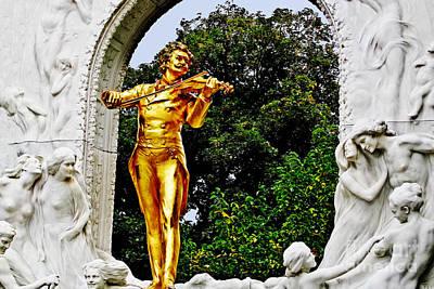Photograph -  Monument Of Johann Strauss II by Elvis Vaughn