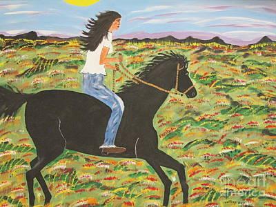 Morning Bareback Ride Art Print