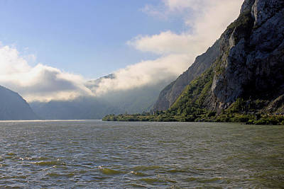 Photograph -  Morning Clouds On The River Danube  by Tony Murtagh