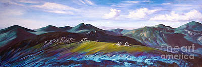 Mourne Mountains 1 Art Print by Anne Marie ODriscoll