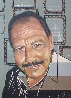 Mr. Carlos Careaga Portrait. Retrato Del Sr. Carlos Careaga. Art Print by Fernando A Hernandez