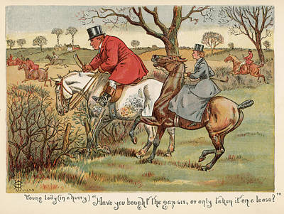 Fence Drawing -  Mr Popple Gets In The Way Of  A Young by Mary Evans Picture Library