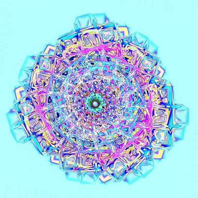 Jewelry Digital Art -  Murano Glass - Blue by Anastasiya Malakhova