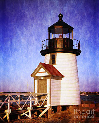 Navigation Digital Art -  Nantucket Harbor Light House by Heinz G Mielke