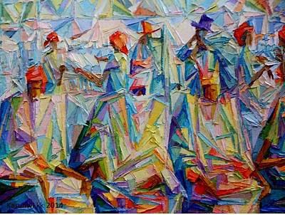 Yoruba Painting -  National Conference by Kayode Karunwi
