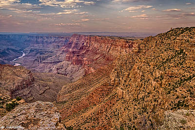 Grandview Digital Art -  Navajo Viewpoint In Grand Canyon National Park by Bob and Nadine Johnston
