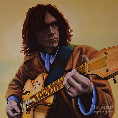 Celebrities Painting -  Neil Young Painting by Paul Meijering