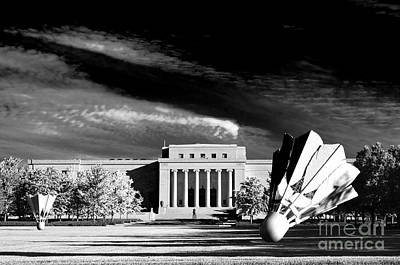 Photograph -  Nelson Adkins Art Museum Bw by Andee Design