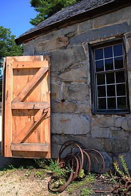Photograph -  New Door - Sturbridge by Jacqueline M Lewis