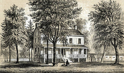 Harlem Drawing -  New York  Bayard House, On  110th by Mary Evans Picture Library