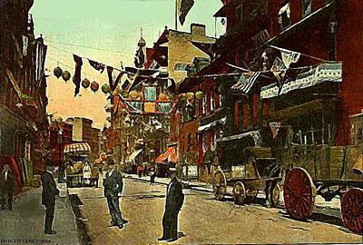 Painting -  New York Chinatown 1910 by Dwight Goss