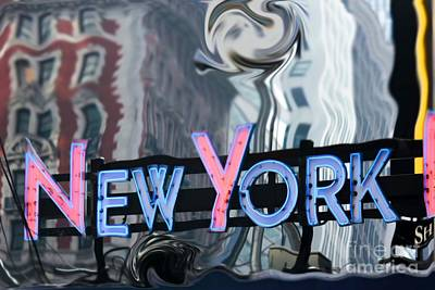 New York Neon Sign Art Print by Sophie Vigneault