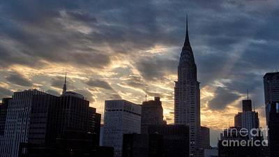 Photograph - Incredible Sunset No. 2 -  New York City Skyline by Miriam Danar
