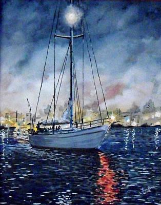 Newport Beach Harbor 4th Of July Art Print by John Leclerc