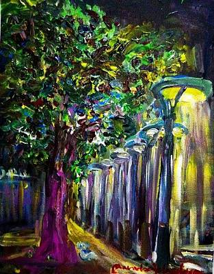 Painting -  Night Light  by Wanvisa Klawklean